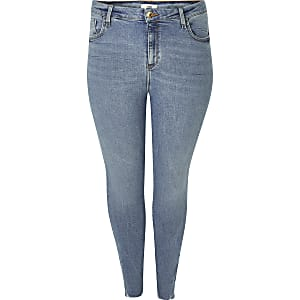 Plus – Super Skinny Jeans in Blau von Amelie