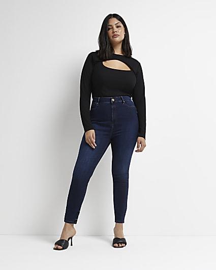 Plus blue bum sculpt skinny jeans