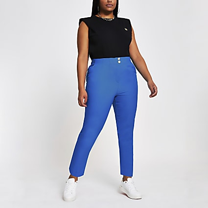 Plus blue cigarette dart trousers