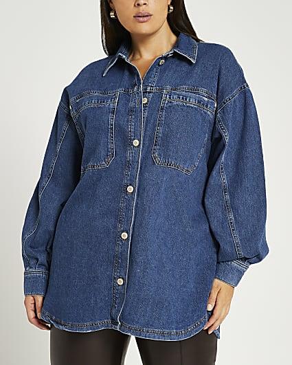 Plus Blue denim shirt