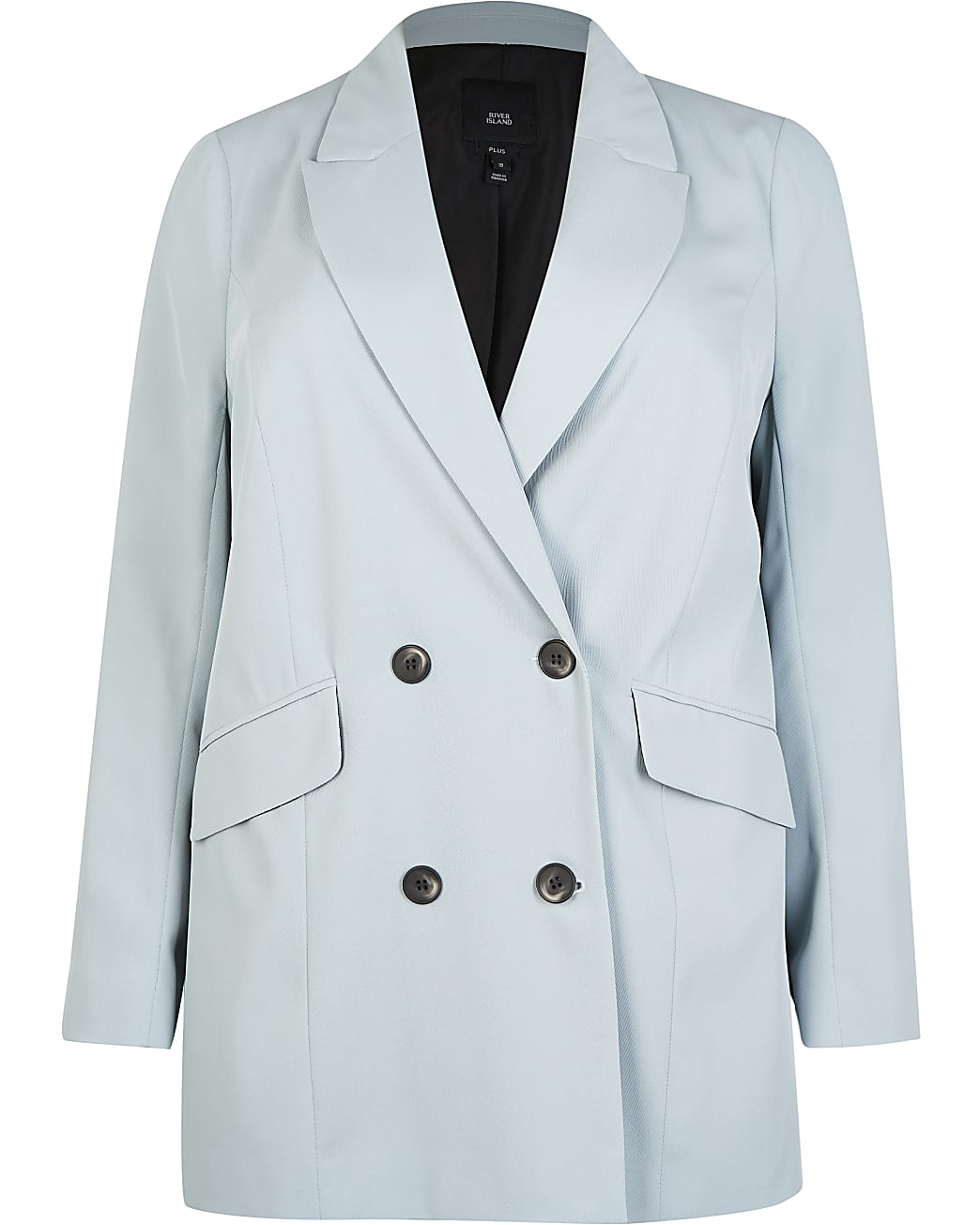 Plus blue double breasted blazer