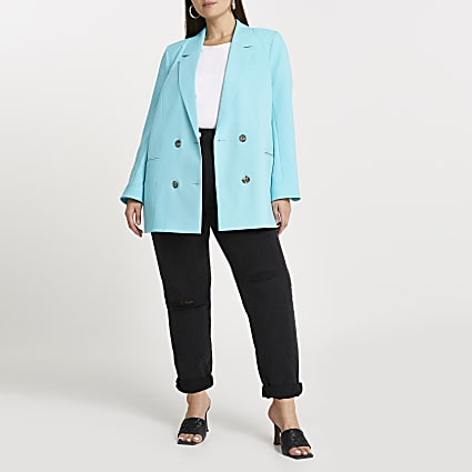 Plus blue longline bLazer