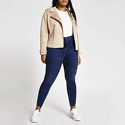 Plus blue Molly mid rise jeans