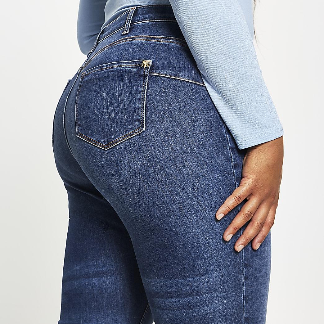 Plus Blue Molly Skinny Bum Sculpt Jean