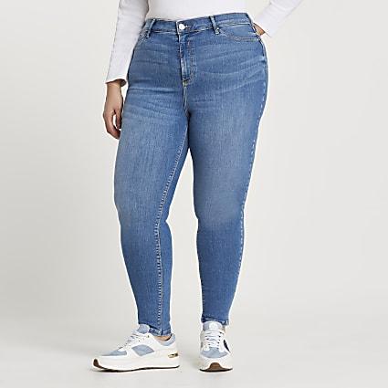 Plus Blue Molly skinny bum sculpt jeans
