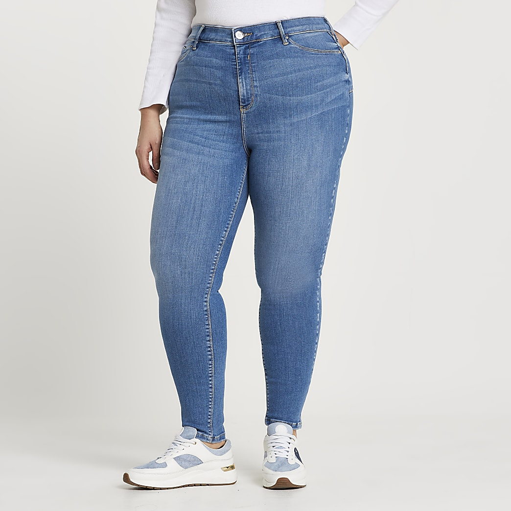 Plus Blue Molly skinny bum sculpt jeans