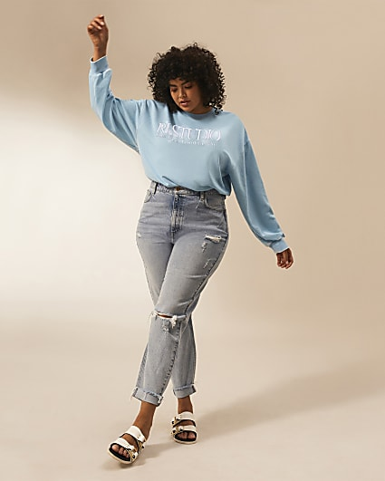 Plus blue RI Studio long sleeve sweatshirt