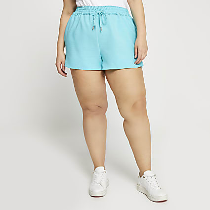 Plus blue runner shorts