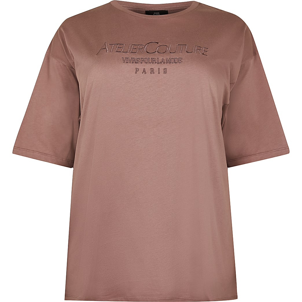 Plus brown 'Atelier Couture' t-shirt