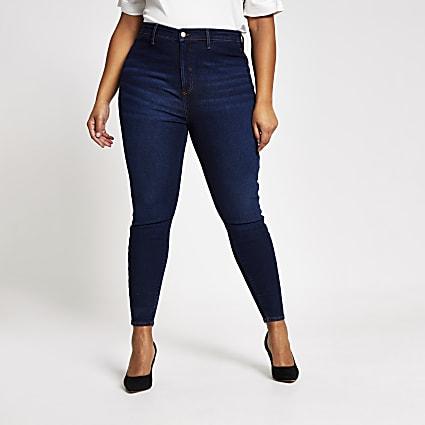 Plus dark blue Kaia high rise disco jeans