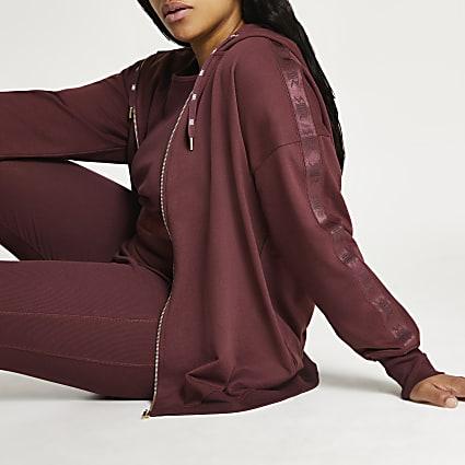 Plus dark pink Intimates zip up hoodie