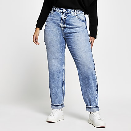 Plus Denim Carrie high rise Mom jeans
