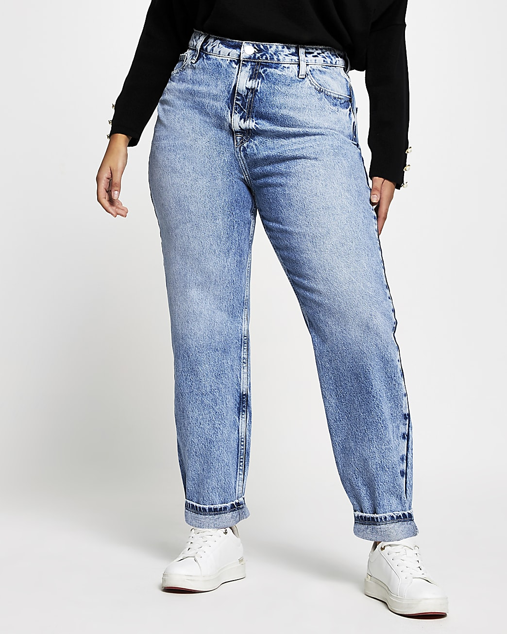 Plus denim Carrie high waisted Mom jeans
