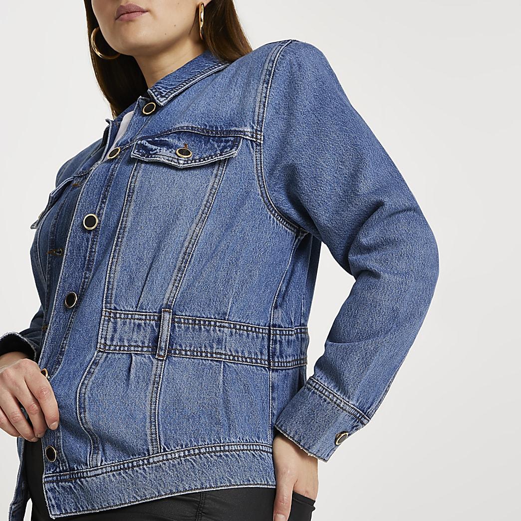 Plus elasticated waist jacket