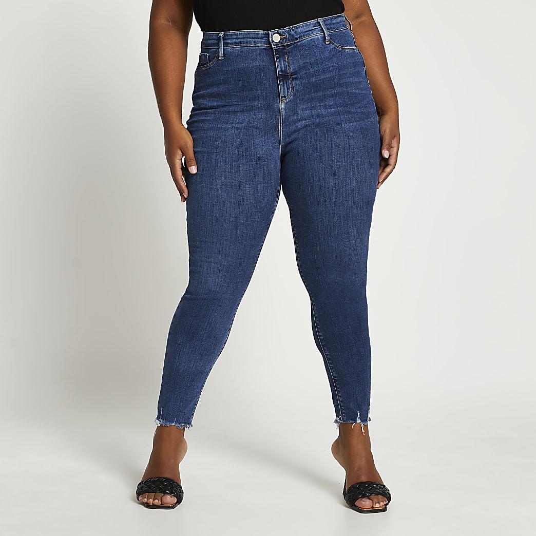 Plus FTBC Charity mid rise skinny jeans