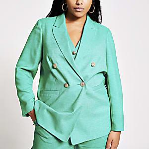 Plus – Blazer croisé vert