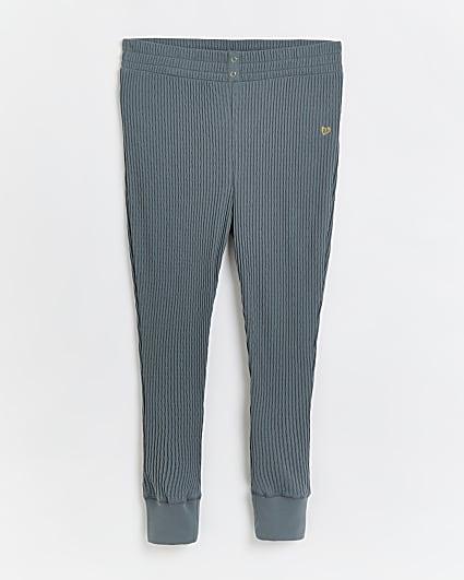 Plus green ribbed leggings