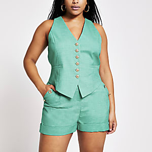 Plus green waistcoat