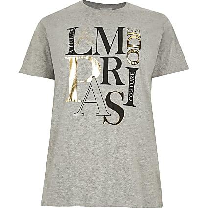 Plus grey 'La Mode Paris' t-shirt