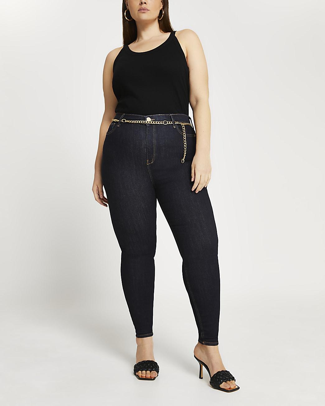 Plus high waisted skinny bum sculpt jeans