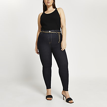 Plus high waisted skinny bum sculpt jeans