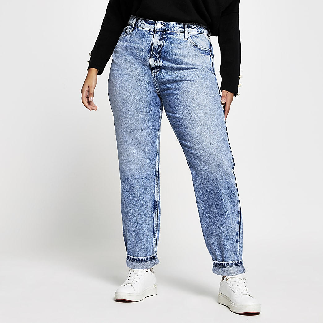 Plus light denim Carrie high rise jeans