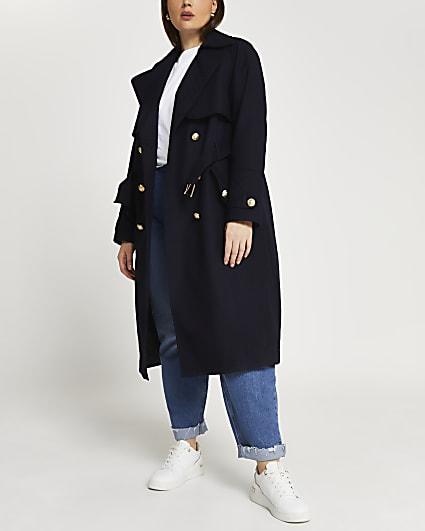 Plus navy trench coat