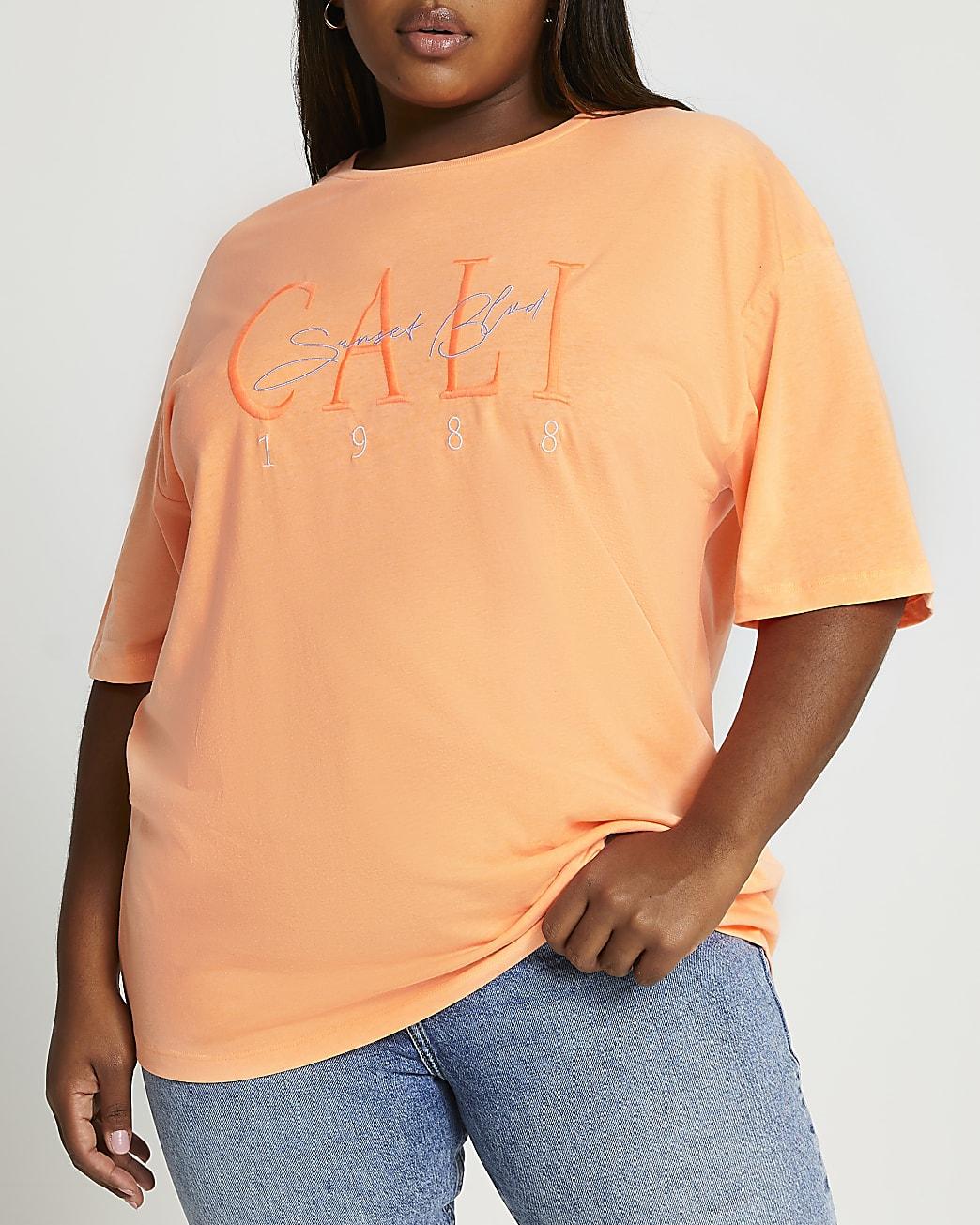 Plus orange short sleeve Cali t-shirt