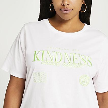 Plus pink graphic t-shirt