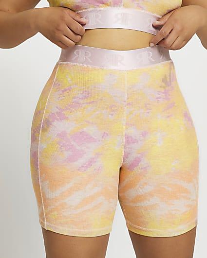 Plus pink Intimates tie dye cycling short
