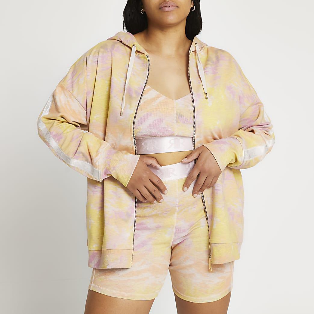 Plus pink Intimates tie dye hoodie