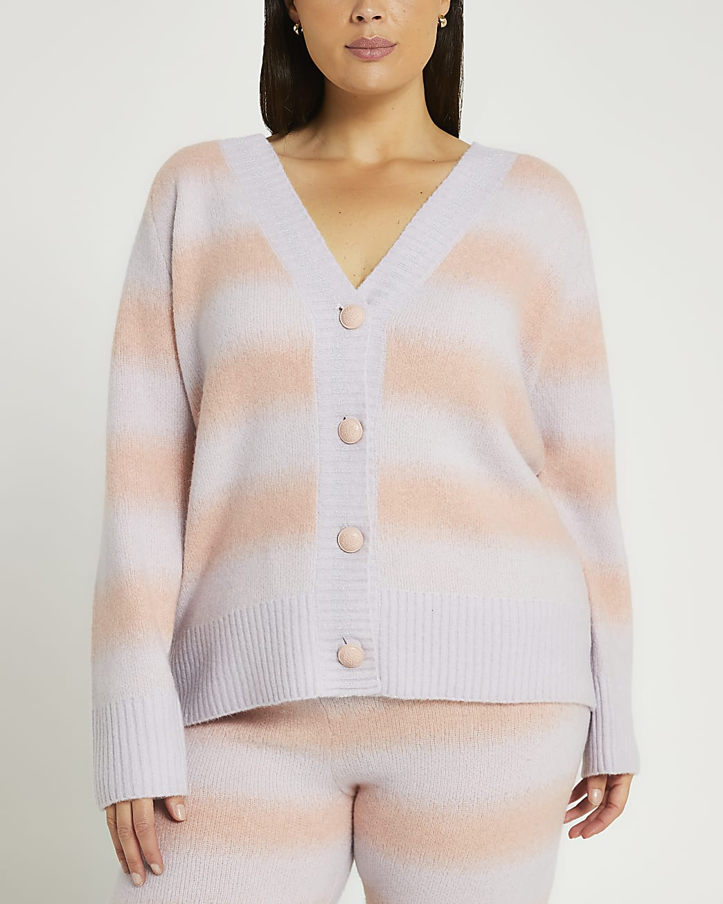Plus pink ombre cardigan