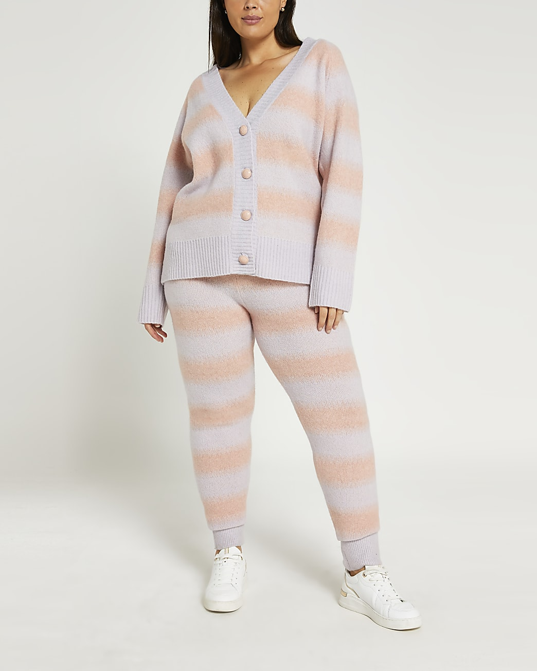 Plus pink ombre leggings