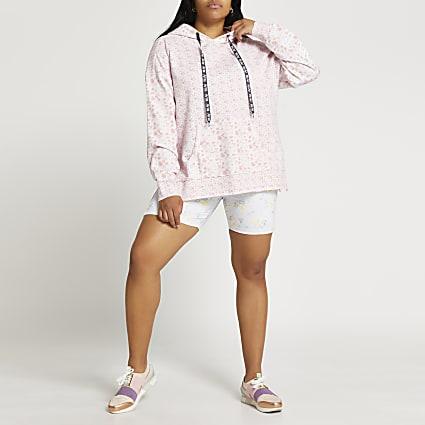 Plus pink RI Active floral hoodie
