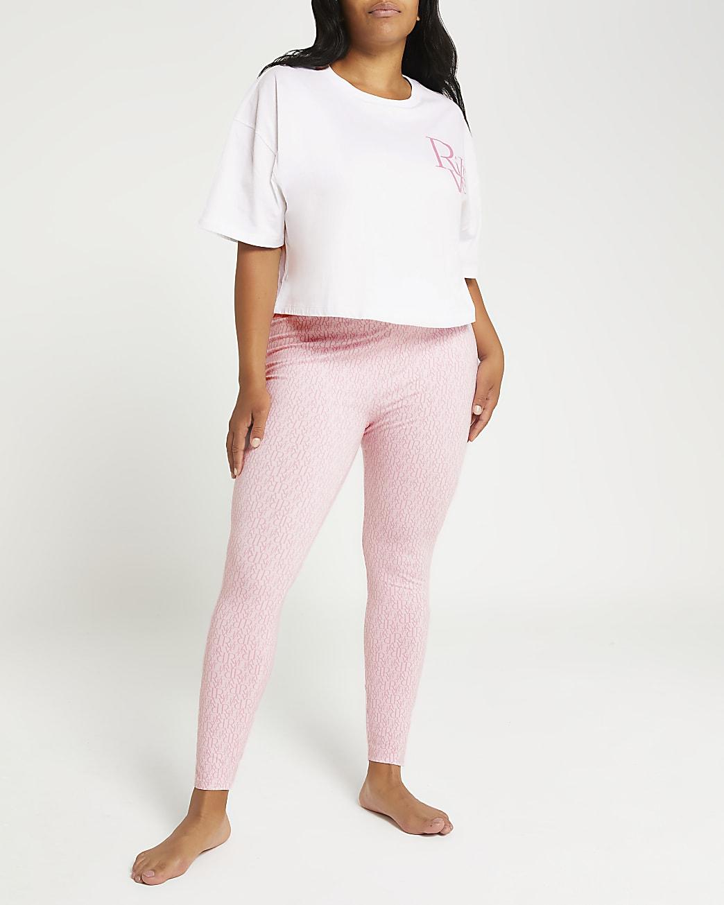 Plus pink RI monogram pyjama set