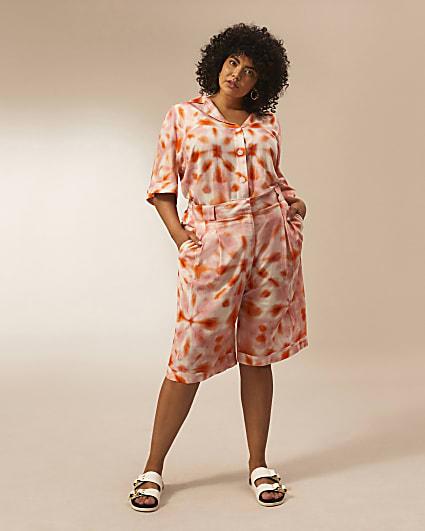 Plus pink RI Studio Bermuda shorts