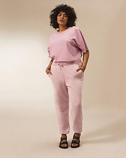 Plus pink RI Studio joggers