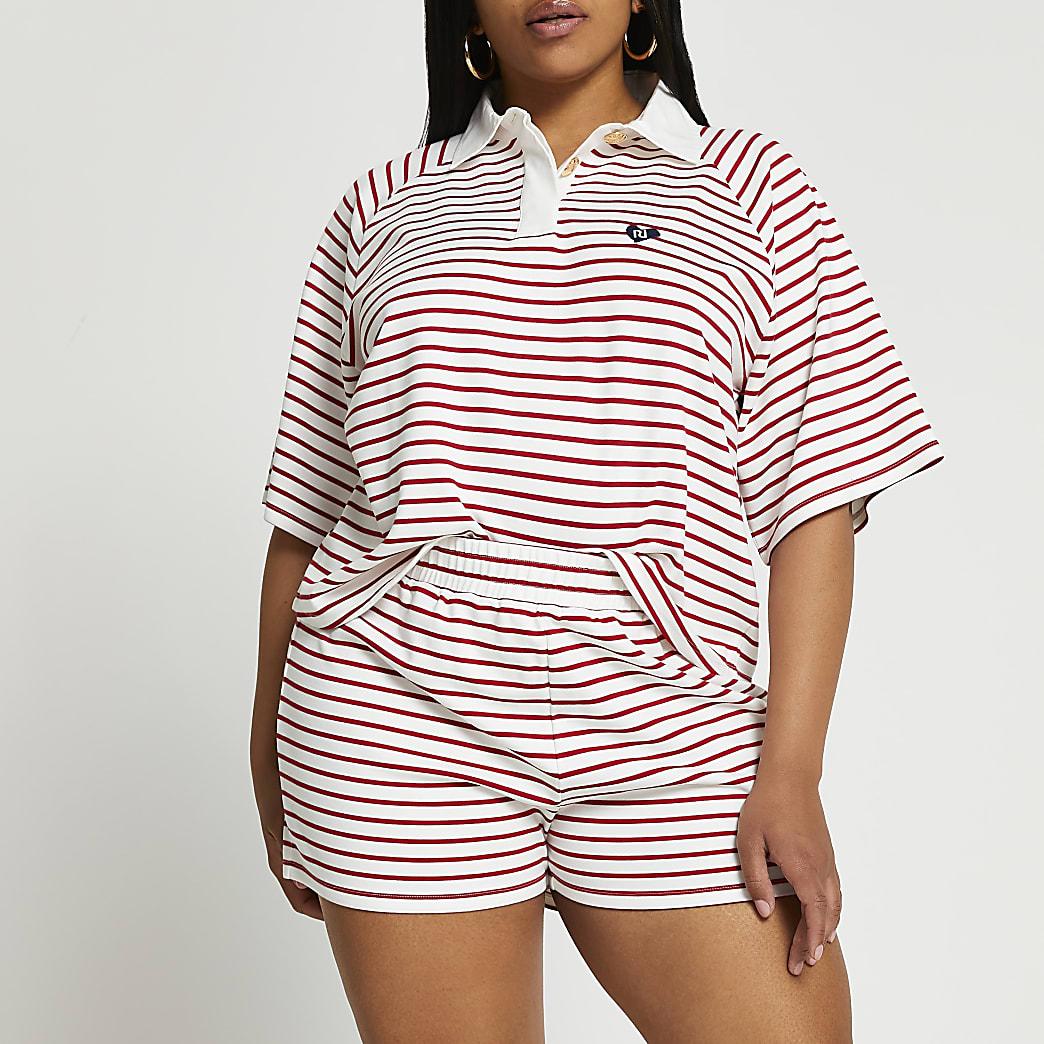 Plus red stripe shorts