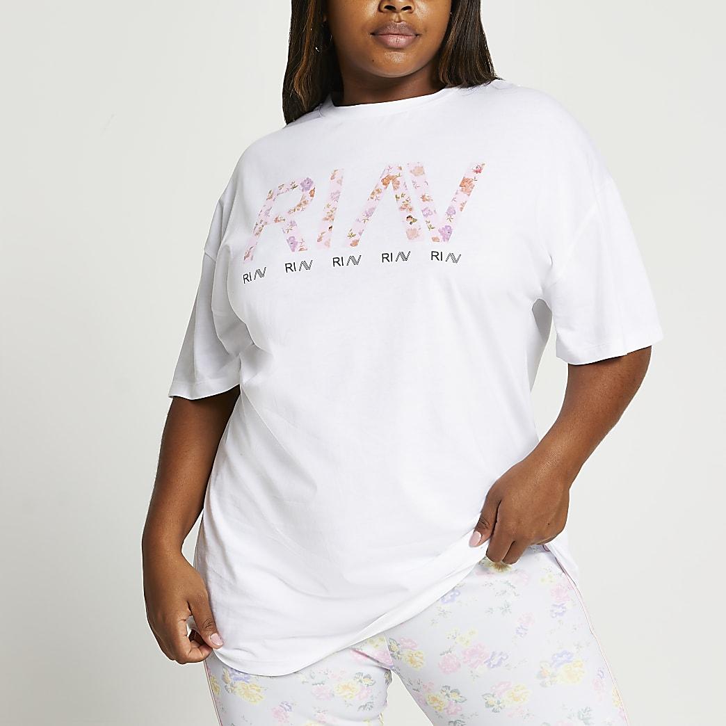 Plus white RI Active oversized t-shirt