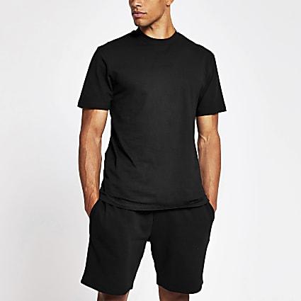 Prolific black back print slim fit t-shirt