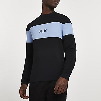 Prolific black block long sleeve t-shirt