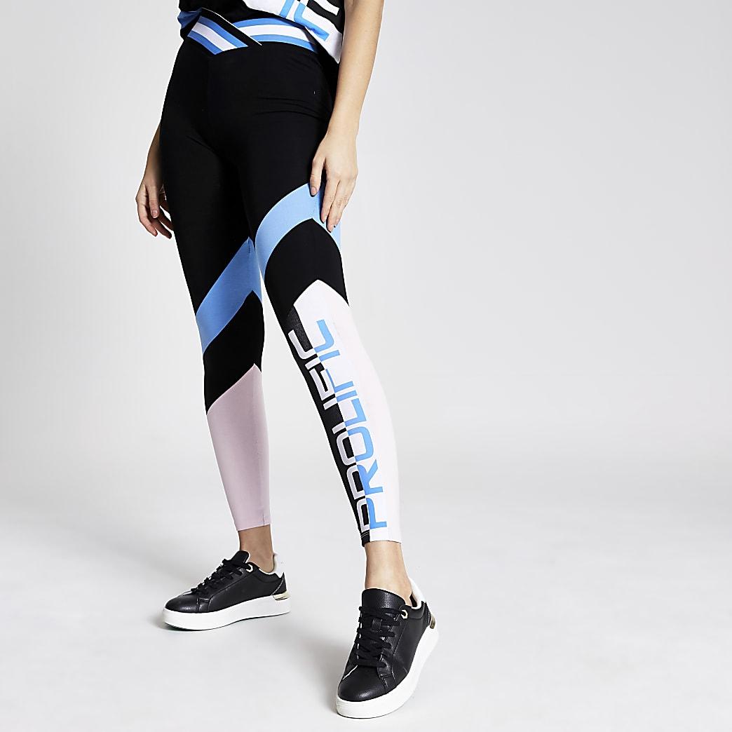 Prolific - Zwarte legging met V-taille en kleurvlakken