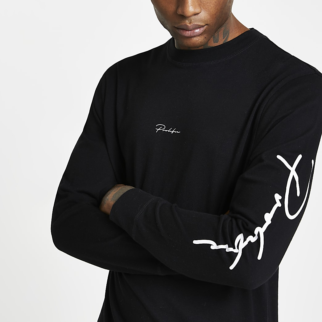 Prolific black long sleeve t-shirt