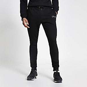Prolific black muscle fit joggers