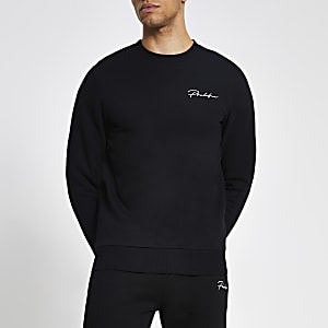 Prolific – Schwarzes Muscle Fit Sweatshirt