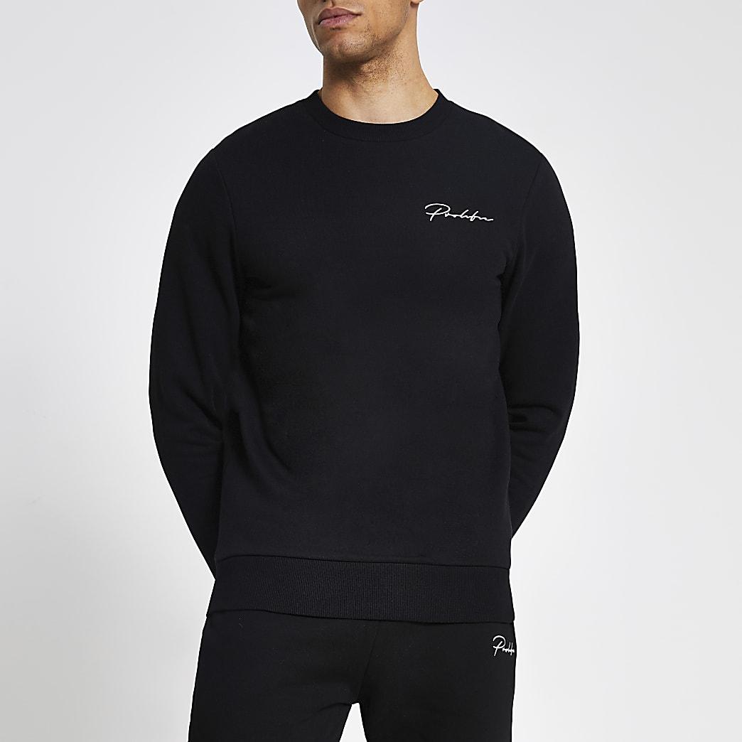 Prolific black muscle fit sweatshirt