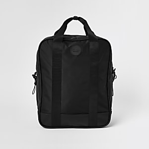 Prolific black nylon square backpack