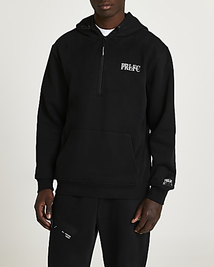 Prolific black oversized fit active hoodie