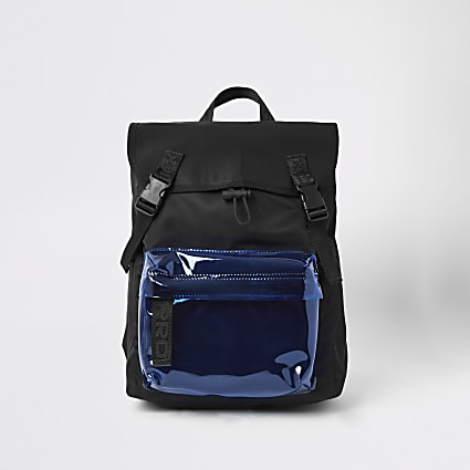 Prolific black pocket front backpack