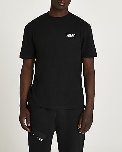 Prolific black regular fit active t-shirt